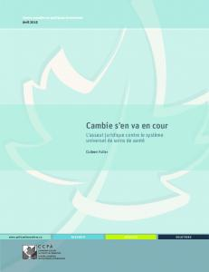 DOCUMENT TITLE - Canadian Centre for Policy Alternatives