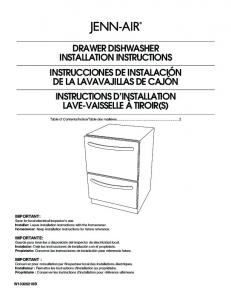 drawer dishwasher installation instructions instrucciones de ...