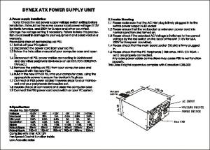 dynex atx power supply unit