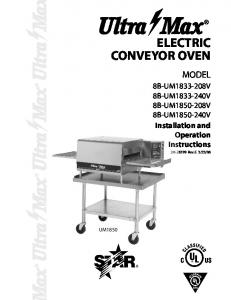 electric conveyor oven - Heritage Parts