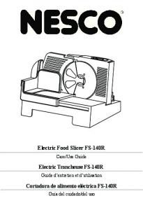 Electric Food Slicer FS-140R Electric Trancheuse FS-140R ...