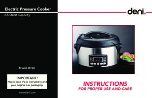 Electric Pressure Cooker - pdfstream.manualsonline.com