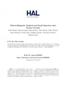ElectroMagnetic Analysis and Fault Injection ... - HAL-EMSE - CNRS
