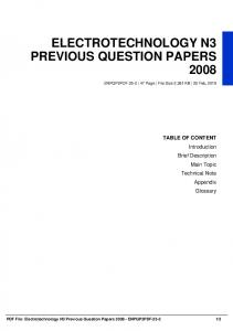 electrotechnology n3 previous question papers 2008 dbid 3mmgi