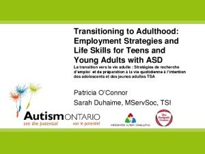 Employment Strategies and Life Skills for Teens and ... - Autism Ontario