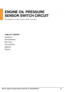 engine oil pressure sensor switch circuit dbid ovx3w