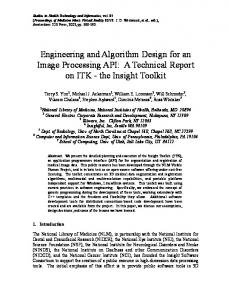 Engineering and Algorithm Design for an Image Processing API: A ...