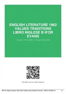 english literature 1962 values traditions libro inglese b ifor evans dbid 3t7rf6