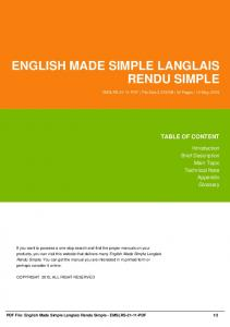 english made simple langlais rendu simple dbid 25p5x
