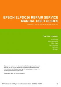 epson elpdc20 repair service manual user guides dbid 2f34y
