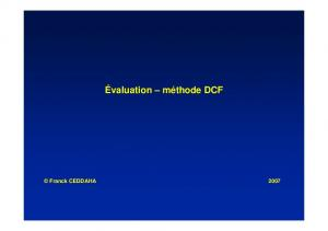 Évaluation – méthode DCF - Studies2