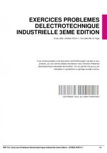 exercices problemes delectrotechnique industrielle 3eme edition dbid 4ngst