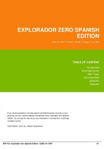 explorador zero spanish edition dbid 51cd