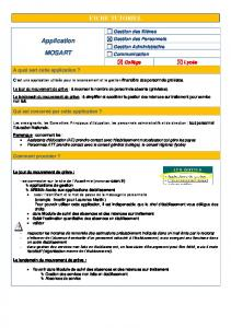 FICHE TUTORIEL Application MOSART