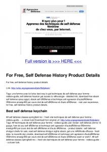 For Free, Self Defense History Product Details