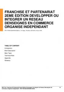 franchise et partenariat 2eme edition developper ou ...  AWS
