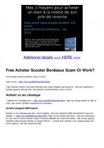 Free Acheter Scooter Bordeaux Scam Or Work?