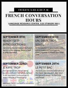 French conversation hours
