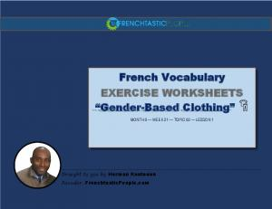 """French Vocabulary EXERCISE WORKSHEETS """"Gender ... - AWS"""