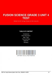 fusion science grade 3 unit 4 test dbid d98d5