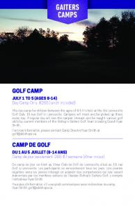 gaiters camps