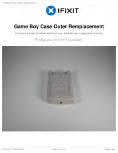 Game Boy Case Outer Remplacement