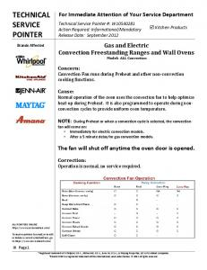 Gas and Electric Convection Freestanding Ranges ... - Whirlpool Parts