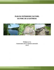 Gatineau Park Cultural Heritage Conservation Strategic