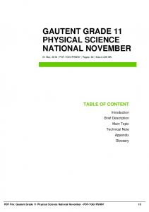 gautent grade 11 physical science national november dbid 40rv