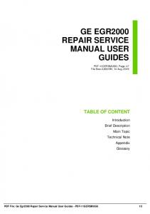 ge egr2000 repair service manual user guides dbid 7pel
