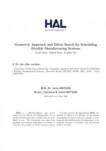 Geometric Approach and Taboo Search for Scheduling ... - HAL-Inria