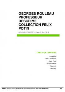 georges rouleau professeur descrime collection felix potin dbid 1otg