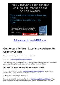 Get Access To User Experience: Acheter Un Scooter ...