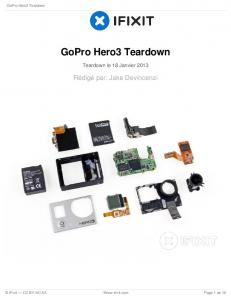 GoPro Hero3 Teardown