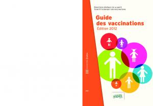 Guide des vaccinations - Edition 2012 - Inpes