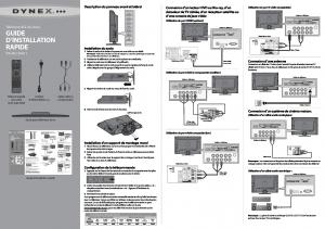 GUIDE D'INSTALLATION RAPIDE