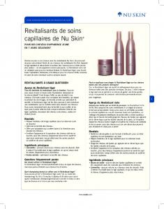 Hair Care Conditioners Product Information Page (French)