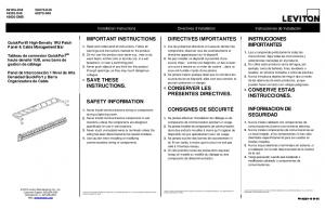 important instructions 4. save these instructions. safety ... - Leviton