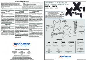 install guide - Manhattan Products