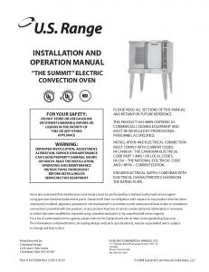 installation and operation manual - Heritage Parts