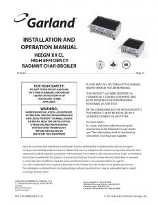 installation and operation manual - Parts Town