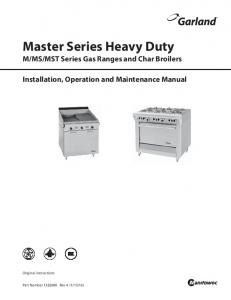 installation and operation manual - Webstaurant Store