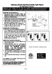 installation instructions for 349-84 - Minka Group