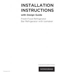 Installation Instructions - Kitchen Appliances from GE Appliances