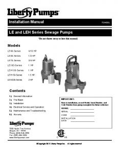 Installation Manual - The Home Depot