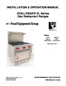 installation & operation manual for - Wolf Stoves Home