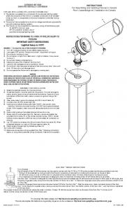 INSTRUCTIONS PERTAINING TO A RISK OF FIRE ... - Kichler Lighting