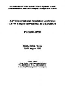 International Union for the Scientific Study of Population (IUSSP)