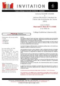 invitation - Club Prescrire