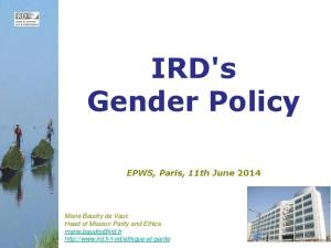IRD's Gender Policy